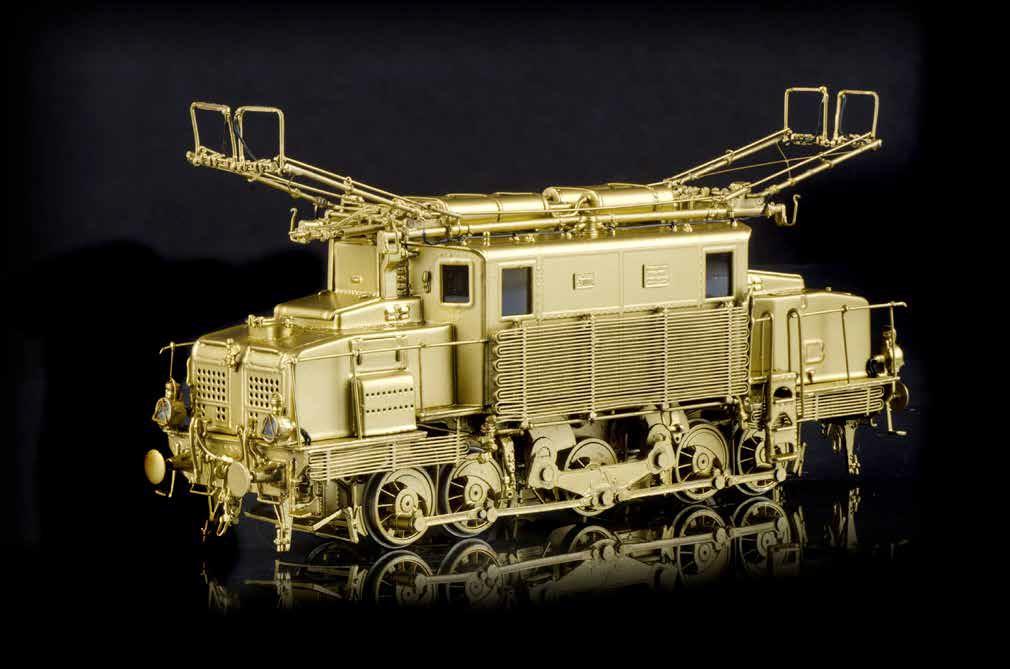 La FS E 570 modellino gold - Artuffo E 570 trifase