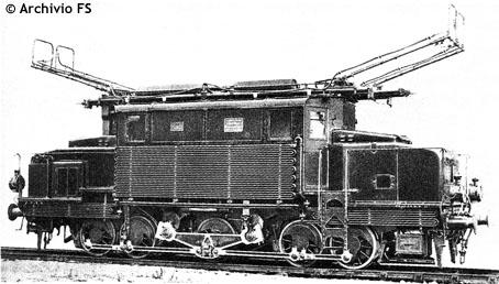 Una foto d'epoca della FS E 570 - Artuffo E 570 trifase