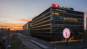 La sede delle Ferrovie dello Stato Svizzere a Berna
