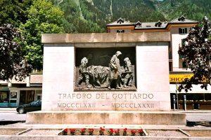 Il monumento ai caduti del Gottardo, opera di Vincenzo Vela