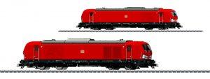 Märklin Scala H0 - Ipotetica locomotiva Diesel-elettrica Gruppo 247 (Siemens Vectron DE) nella ben nota colorazione in rosso trasporti della Ferrovia Tedesca S.p.A. (DB AG).
