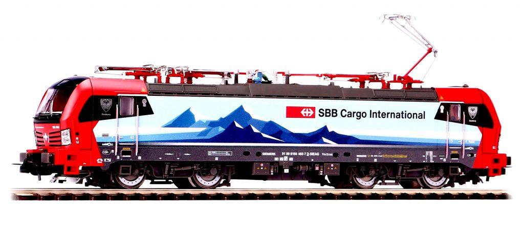 Piko Scala H0 - Locomotiva elettrica Siemens Vectron SBB FFS con stemma Gallarate.
