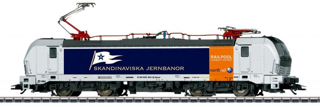 Märklin Scala H0 - Locomotiva elettrica Gruppo 193 del Railpool Northrail, noleggiata alla Skandinaviska Jernbanor (Svezia).