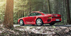 L'alettone incorporato nella Porsche 959.