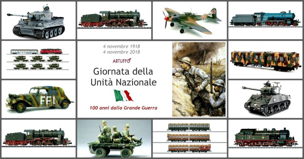 Per il 4 novembre, ecco una carrellata di modellini di articoli militari